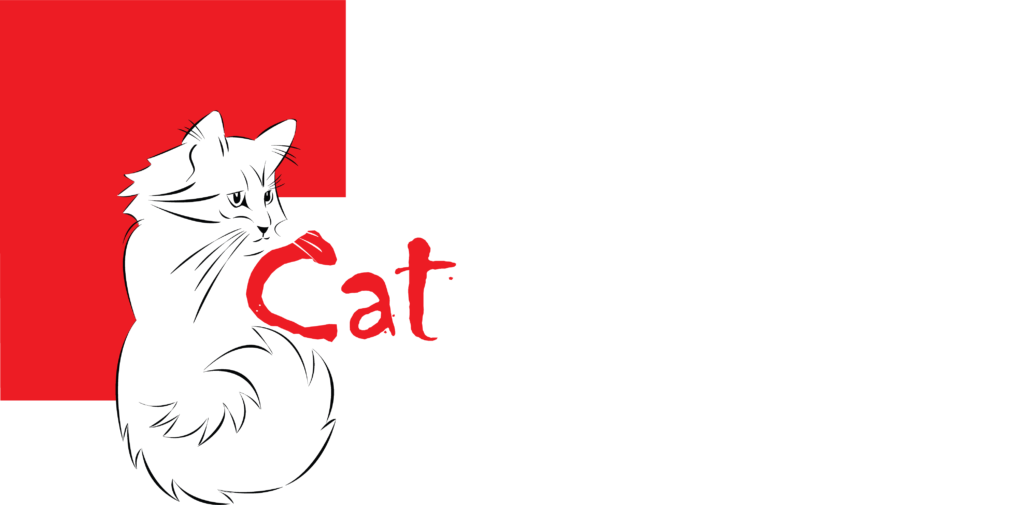 artekatz|Artekatz Cat cafe Logo no background reversed out white